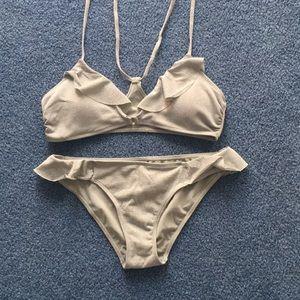 Silver Bikini Suit